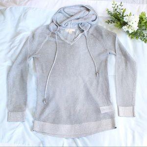 Michael Kors silver mesh hoodie